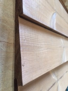 Thermowood siding